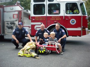 Renton Firefighters participating with local residents